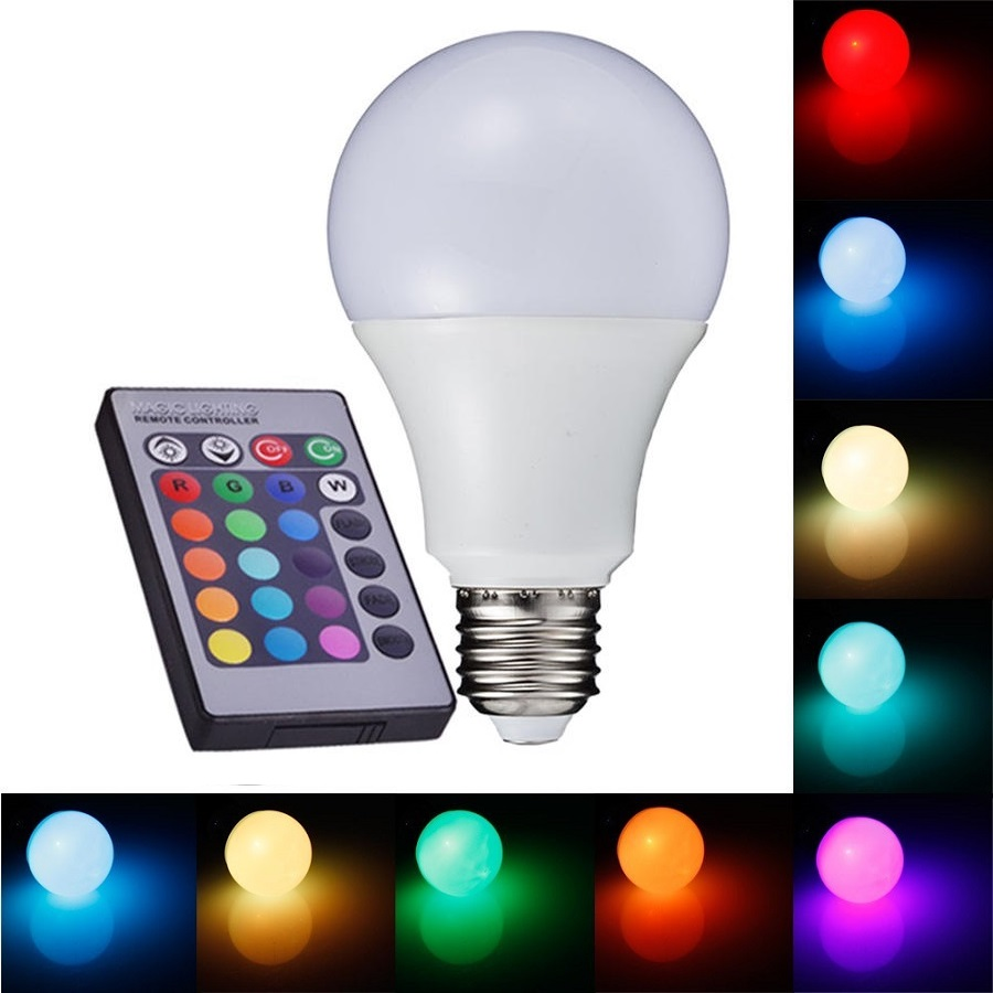 Light LED žárovka CW2706 E27 6W RGB + čistá bílá (LED žárovka E27, RGB + studená bílá)