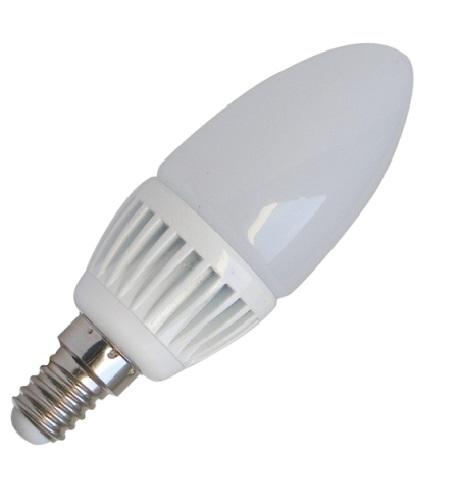LED žárovka, svíčka, 5W, E14, 3000K, 400lm (LED žárovka E14, teplá bílá)