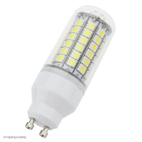 SMD Lighting LED žárovka GU10 6,5W 69x SMD 5050 s krytem - bílá čistá (LED žárovka 69x SMD 5050 s krytem)