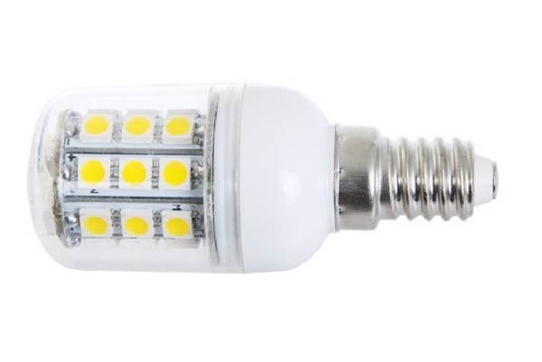 SMD Lighting LED žárovka E14 4W 27 SMD 5050 bílá teplá (LED žárovka s krytem)