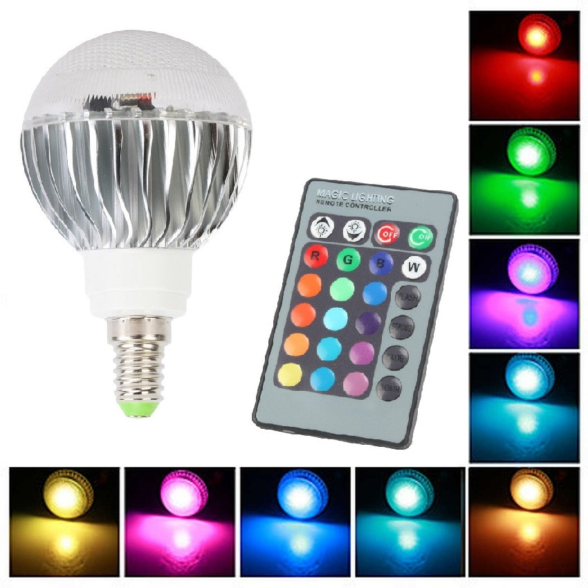 Light LED žárovka 140400 E14 4W RGB