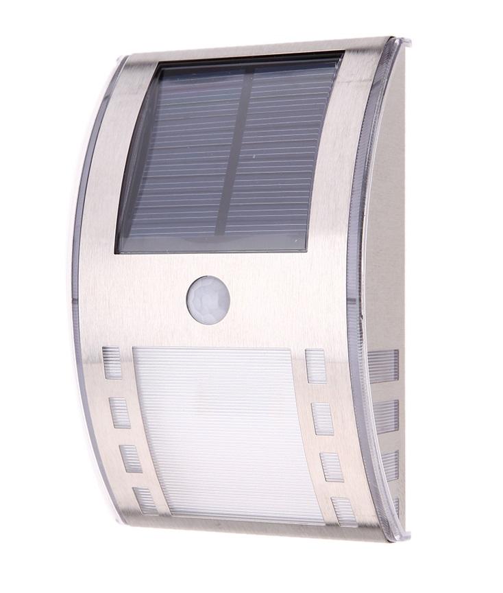 Solární LED světlo s PIR čidlem čistá bílá (Solární LED světlo s PIR čidlem pohybu)