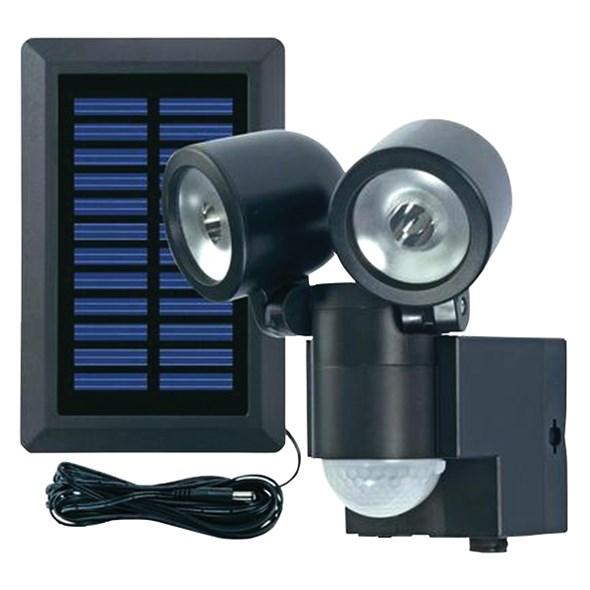 Svítidlo LED - solární reflektor s PIR čidlem černé (Zahradní svítidlo s PIR čidlem)