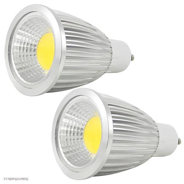 LED žárovka Lighting GU10 COB 8W teplá bílá (LED žárovka COB 8W - GU10 teplá bílá)