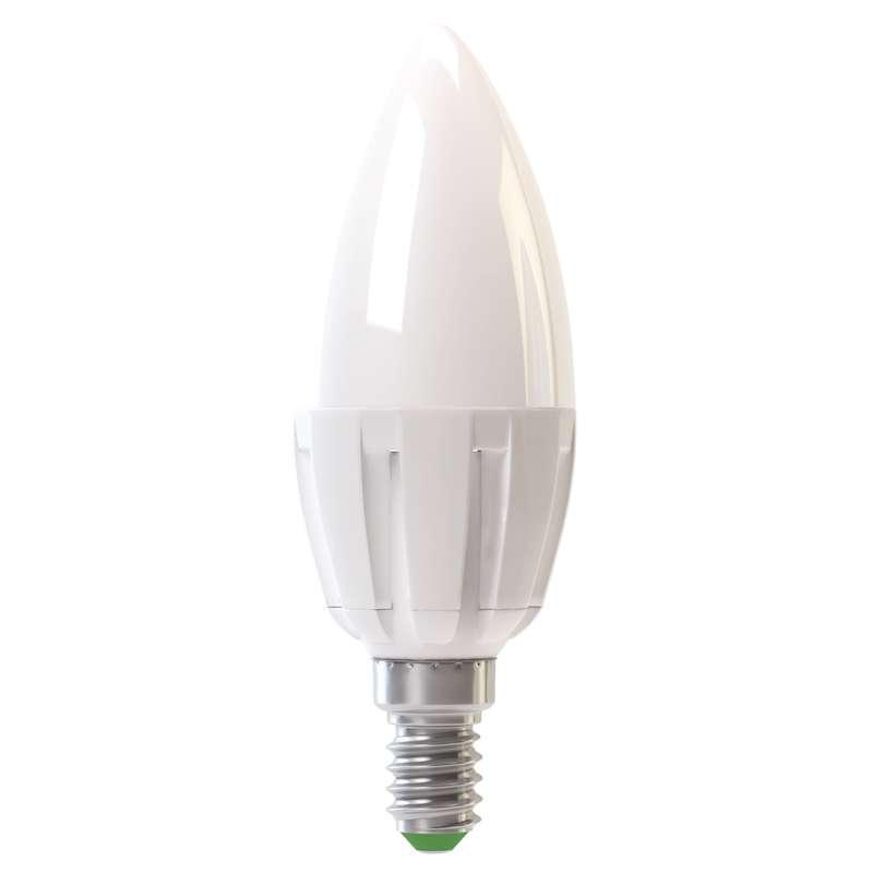 Žárovka LED, svíčka, 6W, E14, 3000K, 400lm (LED žárovka E14, teplá bílá)