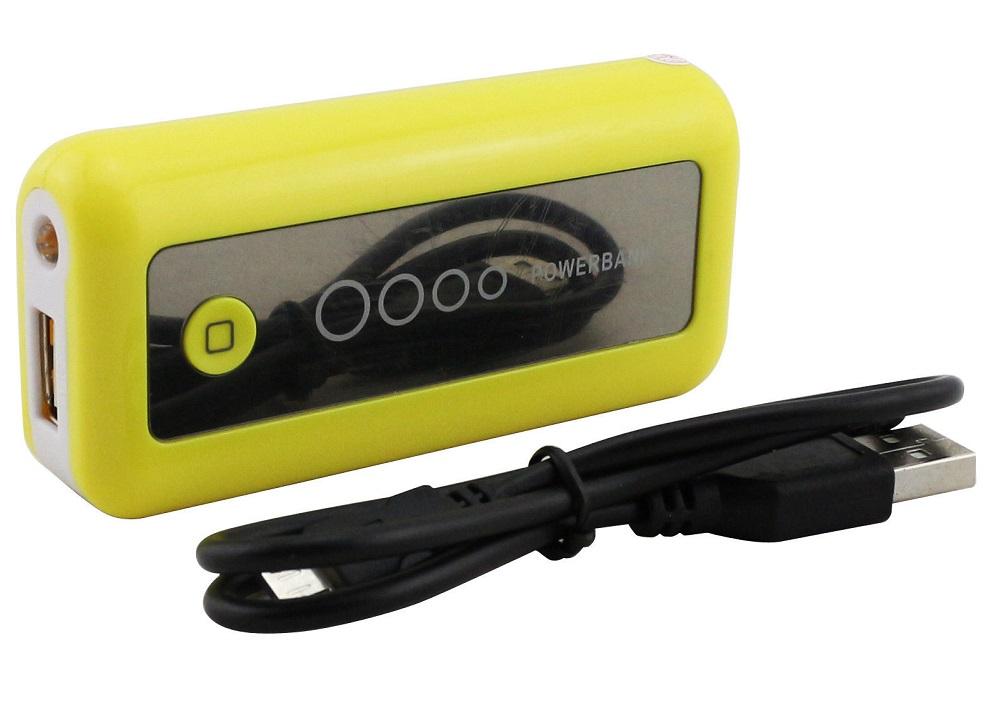 Speed PW5600 Powerbank 5 600 mAh, svítilna, žlutá (Záložní zdroj 5600 mAh)