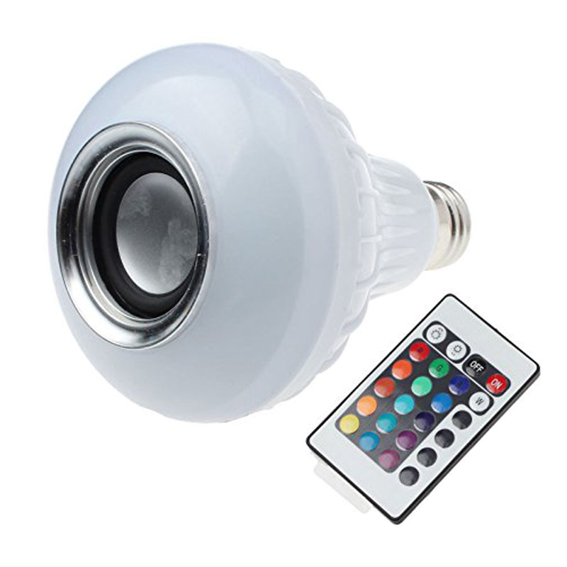 Light LED žárovka E27 6W RGB Bluetooth, Speaker (LED žárovka E27, 6W, RGB, reproduktor)