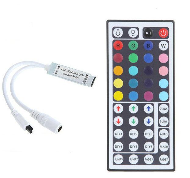 IR ovladač a přijímač k RGB LED pásku - 44 tlačítek mini (Ovládání pro RGB LED pásky mini)