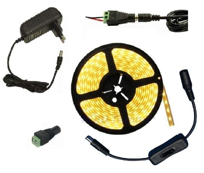 Lighting LED pásek 3 metry/180diod 15W IP20 teplá bílá + zdroj (LED pásek 3528 3 metry komplet)