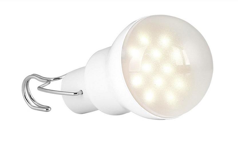 Light LED žárovka solární 1,5W (LED žárovka s baterii 1,5W)