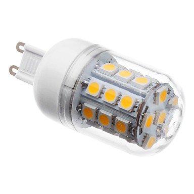 SMD Lighting LED žárovka G9 4W 27 SMD 5050 bílá teplá (LED žárovka G9 s krytem)
