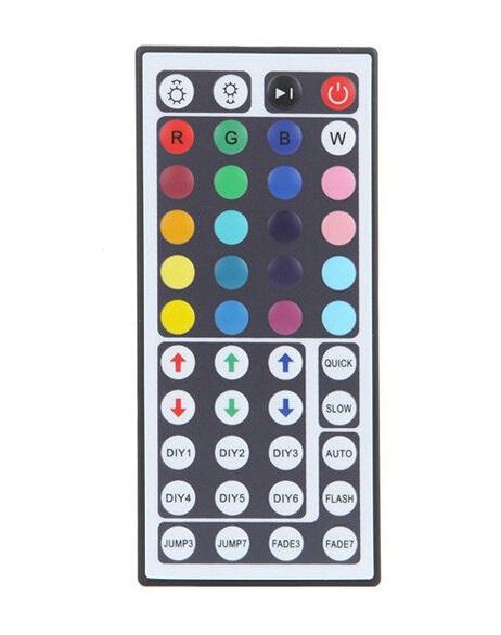 Dálkový IR ovladač k RGB LED pásku - 44 tlačítek (Dálkové ovládání pro RGB LED pásku)
