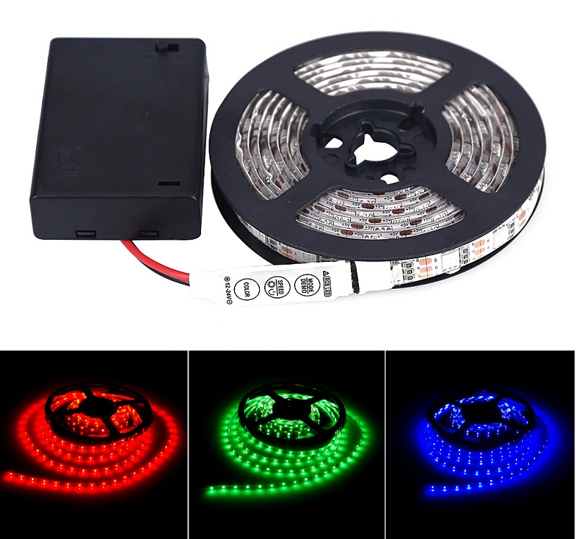 Lighting LED pásek 1 m/60diod 5W/1m IP65 RGB na baterii