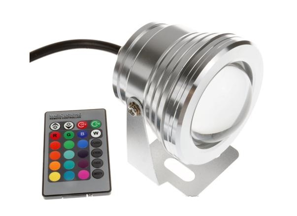 Lighting RGB LED reflektor 10W, halogen 12V stříbrný