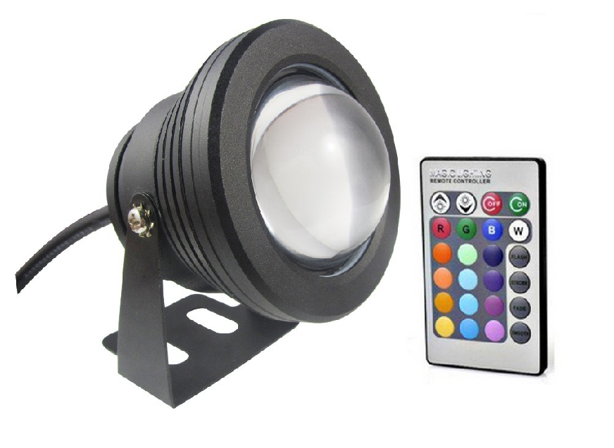 Lighting RGB LED reflektor 10W, halogen 12V černý