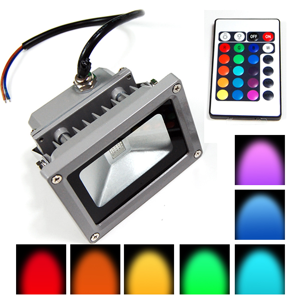 Lighting RGB LED reflektor 10W, halogen 230V šedý