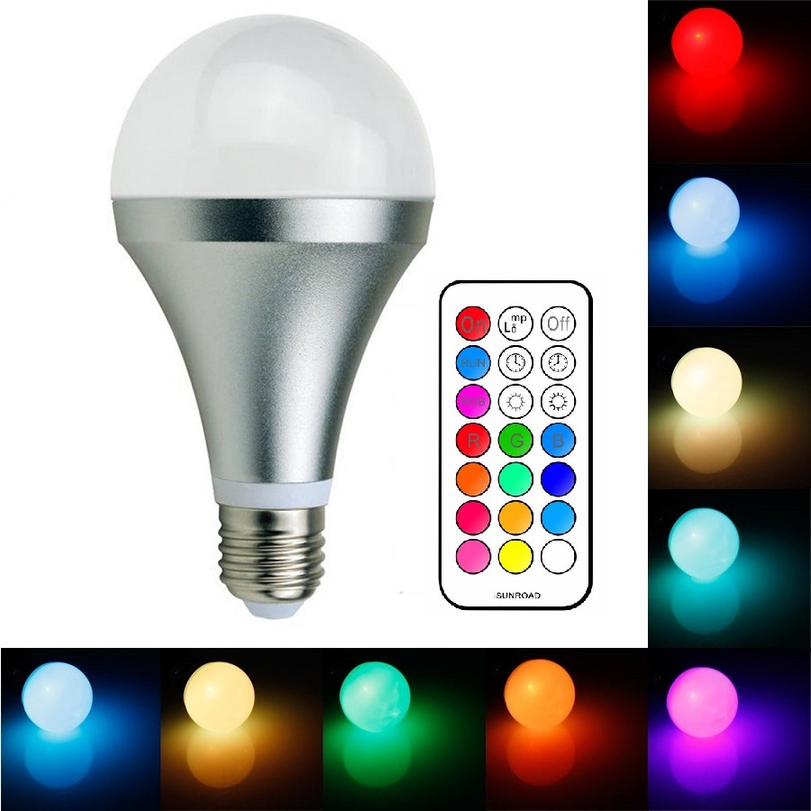 Light LED žárovka WW2706 E27 6W RGB