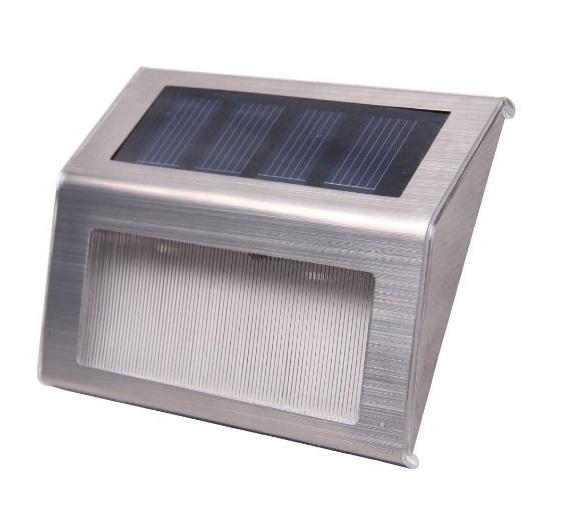 Solární světlo nerez malé 2 kusy 8012 (Nástěnné světlo zahradní)