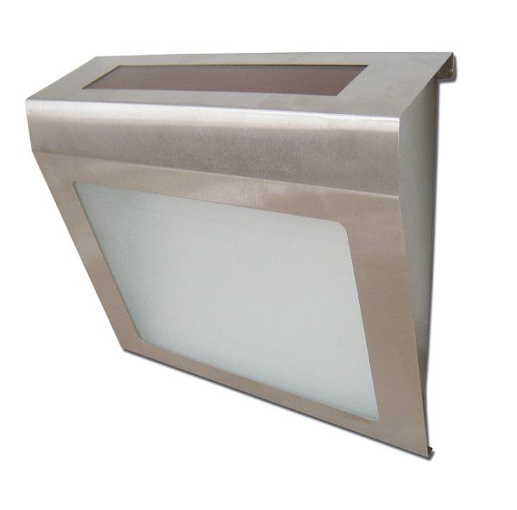 Solární nerez světlo velké 2 kusy (Nástěnné světlo zahradní)