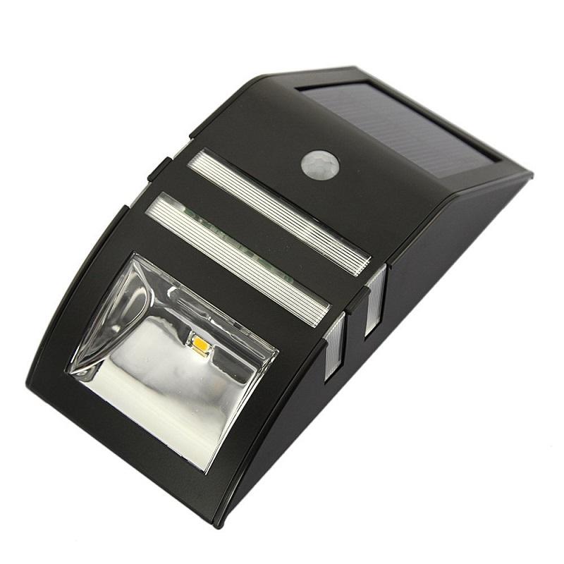 Solární svítidlo s PIR čidlem, černé (Solární LED světlo s PIR čidlem)
