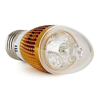 LED Light LED žárovka svíčka E27 3W čistá bílá (LED žárovka svíčka zlatá )