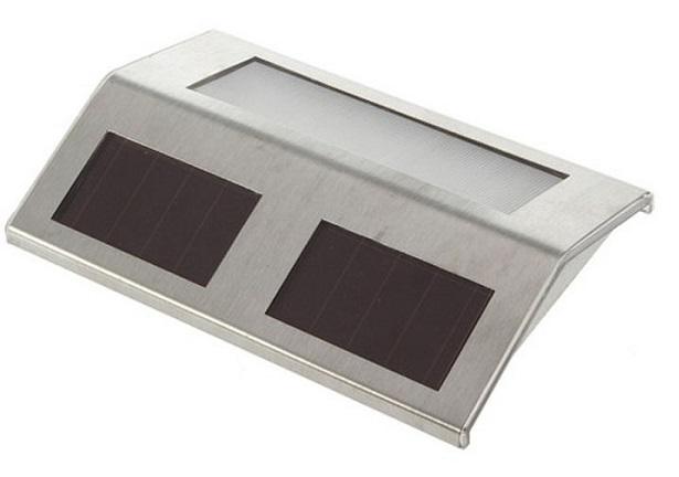 Solární světlo obdélníkové set 4 kusy 09-008 (Nástěnné světlo zahradní)