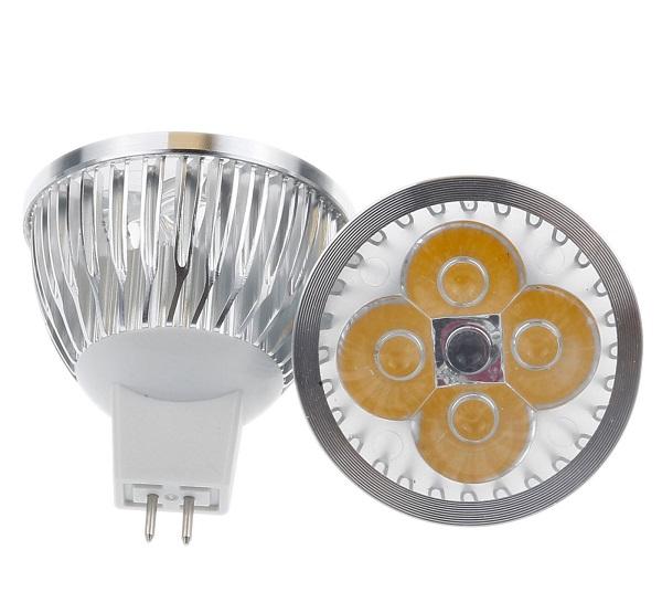 LED Light žárovka MR16 8W bílá teplá (Bodovka 12V 4x2W)