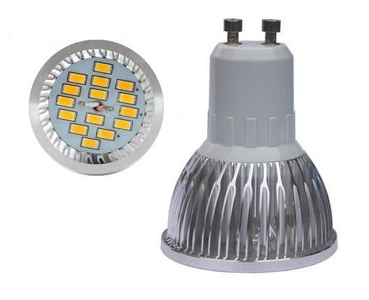 LED žárovka GU10 6W smd lighting bílá teplá (15x SMD 5630)