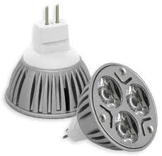 LED Light žárovka MR16 3W bílá teplá (Bodovka 12V 3x1W)