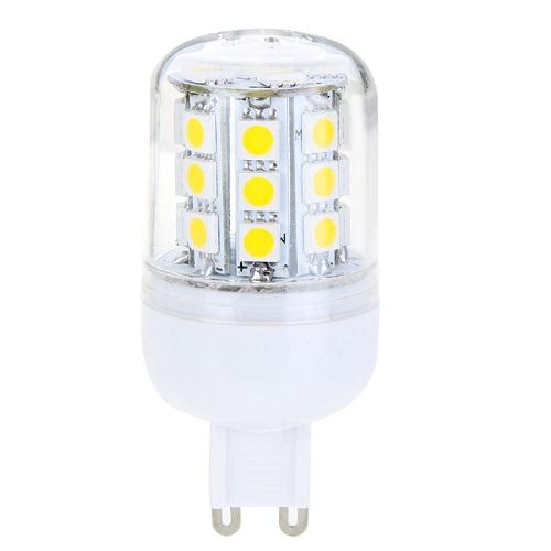SMD Lighting LED žárovka G9 4W 30 SMD 5050 bílá teplá (LED žárovka G9 30x SMD 5050 s krytem)
