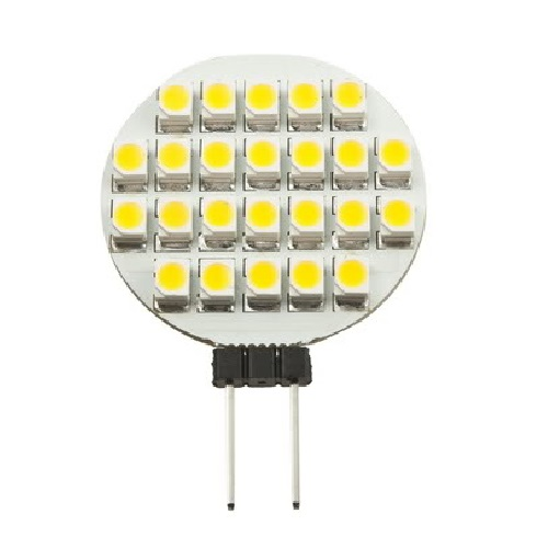 LED žárovka G4 1.2W 12V teplá bílá (SMD Lighting LED G4 24x SMD 1210)