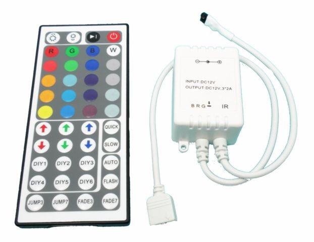 IR ovladač a přijímač k RGB LED pásku - 44 tlačítek (Ovládání pro RGB LED pásky)