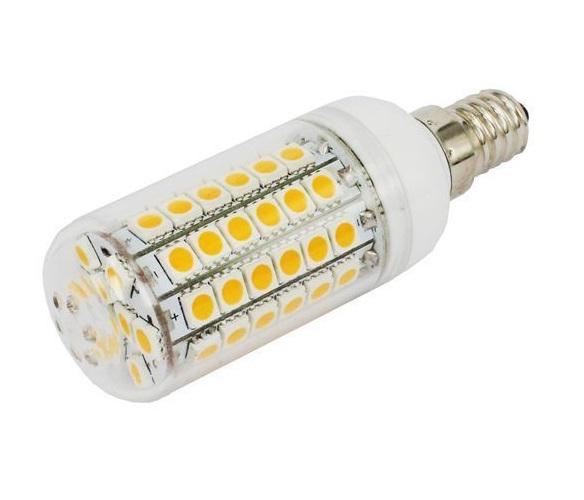 SMD Lighting LED žárovka E14 6,5W 69x SMD 5050 s krytem - bílá teplá (LED žárovka 69x SMD 5050 s krytem)