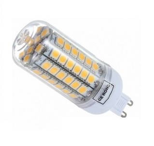 SMD Lighting LED žárovka G9 6,5W 69x SMD 5050 s krytem bílá teplá (LED žárovka G9 69x SMD 5050 s krytem)