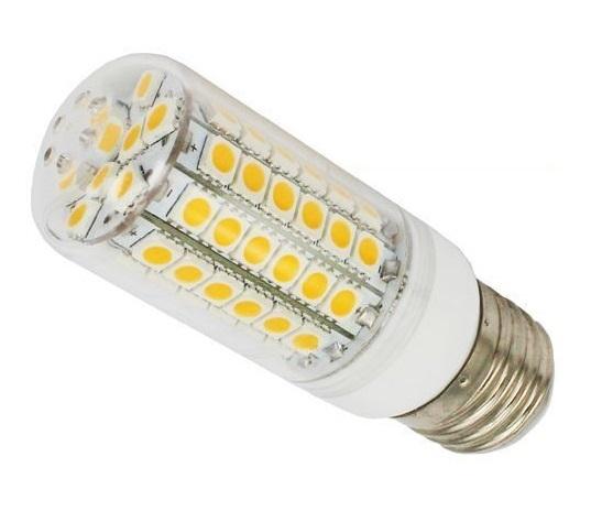 LED SMD LED žárovka E27 6,5W 69x SMD 5050 s krytem - bílá teplá (LED žárovka 69x SMD 5050 s krytem)