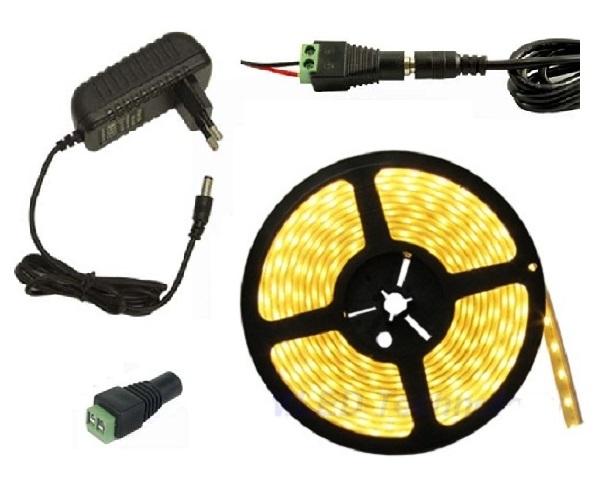 Lighting LED pásek 3 metry/180diod 15W voděodolný teplá bílá + zdroj (Voděodolný pásek 3528 3 metry komplet)