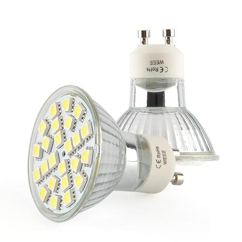 LED žárovka GU10 4W smd lighting bílá čistá (24x SMD 5050)