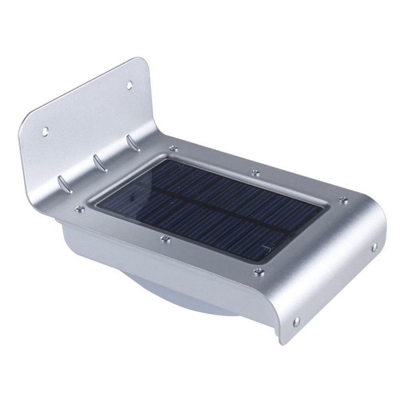 Solarní LED světlo 688 se zvukovým senzorem, střibrné (Solární světlo se světelným a zvukovým senzorem)