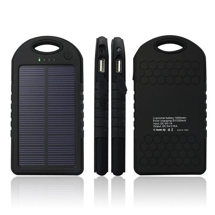 Solární nabíječka, černá