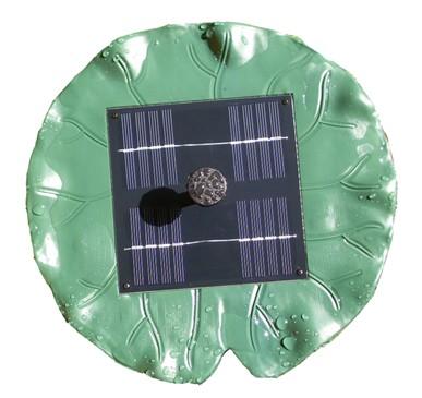 Solární plovoucí ostrůvek s vodotryskem